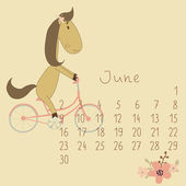 Calendar for June 2014. — Stock Vector