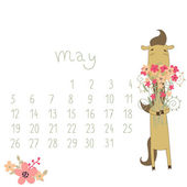 Calendar for May 2014. — Stock Vector