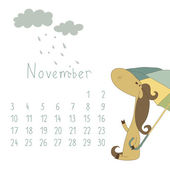 Calendar for November 2014. — Stock Vector