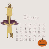 Calendar for October 2014. — Stock Vector