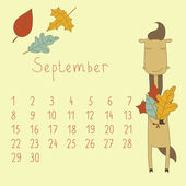 Calendar for September 2014. — Stock Vector