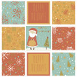 Set of christmas patterns — Stock Vector #32805941