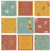 Set of christmas patterns — Stock Vector