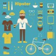 Hipster boy — Stock Vector