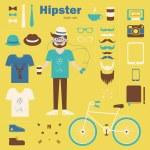 Hipster boy — Stock Vector #34320597