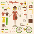 Hipster girl — Stock Vector #34320653