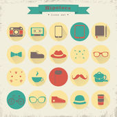 Hipster retro vintage elements — Stock Vector