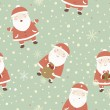Christmas background with Santa. — Stock Vector