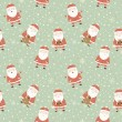 Christmas background with Santa. — Stockvectorbeeld