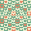 Vintage Hearts seamless pattern. Cute vector seamless pattern (tiling). — ベクター素材ストック