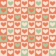Vintage Hearts seamless pattern.  — Stockvectorbeeld