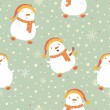 Christmas background with a snowman.  — Stock Vector