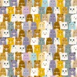 Seamless cartoon animals pattern — Stok Vektör