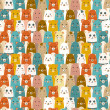 Seamless cartoon animals pattern — Imagen vectorial