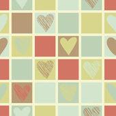 Vintage Hearts seamless pattern. — Stock Vector
