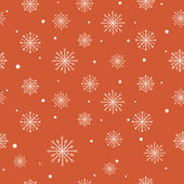 Christmas pattern with snowflakes. — Stock Vector