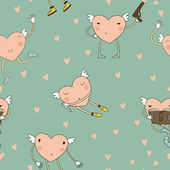 Cartoon cute hearts — Stockvektor