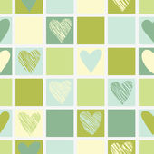 Vintage Hearts seamless pattern. — Stock Vector