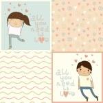 Girl & boy in love — Stock Vector #39177515