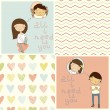 Girl & boy in love — Stock Vector #39177517