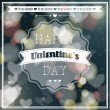 Happy Valentines day lettering Greeting Card. — Stock vektor #40144799