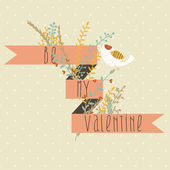 Valentine Greetings Card Design — Vettoriale Stock