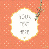 Vintage background in pastel colors with flowers. — Vector de stock
