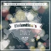 Šťastný Valentýn nápis přání. — Stock vektor