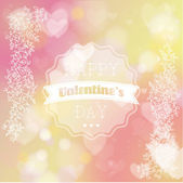 Happy Valentines day lettering Greeting Card. — Stock Vector
