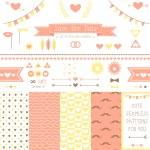 Set of elements for wedding design. — Stock Vector #41106759