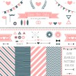 Set of elements for wedding design. — Stock Vector #41106843