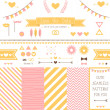 Set of elements for wedding design. — Stock Vector #41106853
