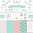 Set of elements for wedding design. — Stok Vektör #41106763