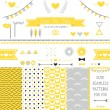 Set of elements for wedding design. — Stock Vector #41106769