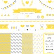 Set of elements for wedding design. — Stock Vector