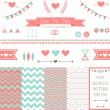 Set of elements for wedding design. — Stock Vector #41106953