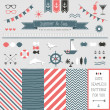 Set of elements for design. Sea and summer — Stock Vector