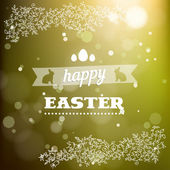 Happy Easter card in vector — Stock Vector