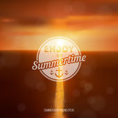 Summer background. Enjoy summertime - summer typography — Stock Vector