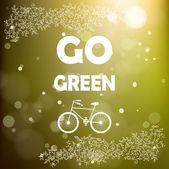 Go green poster. — Stock Vector