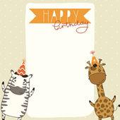 Happy Birthday card background — Stock Vector