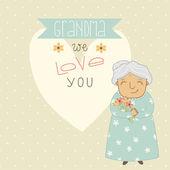 Card for Grandma. — Stock Vector