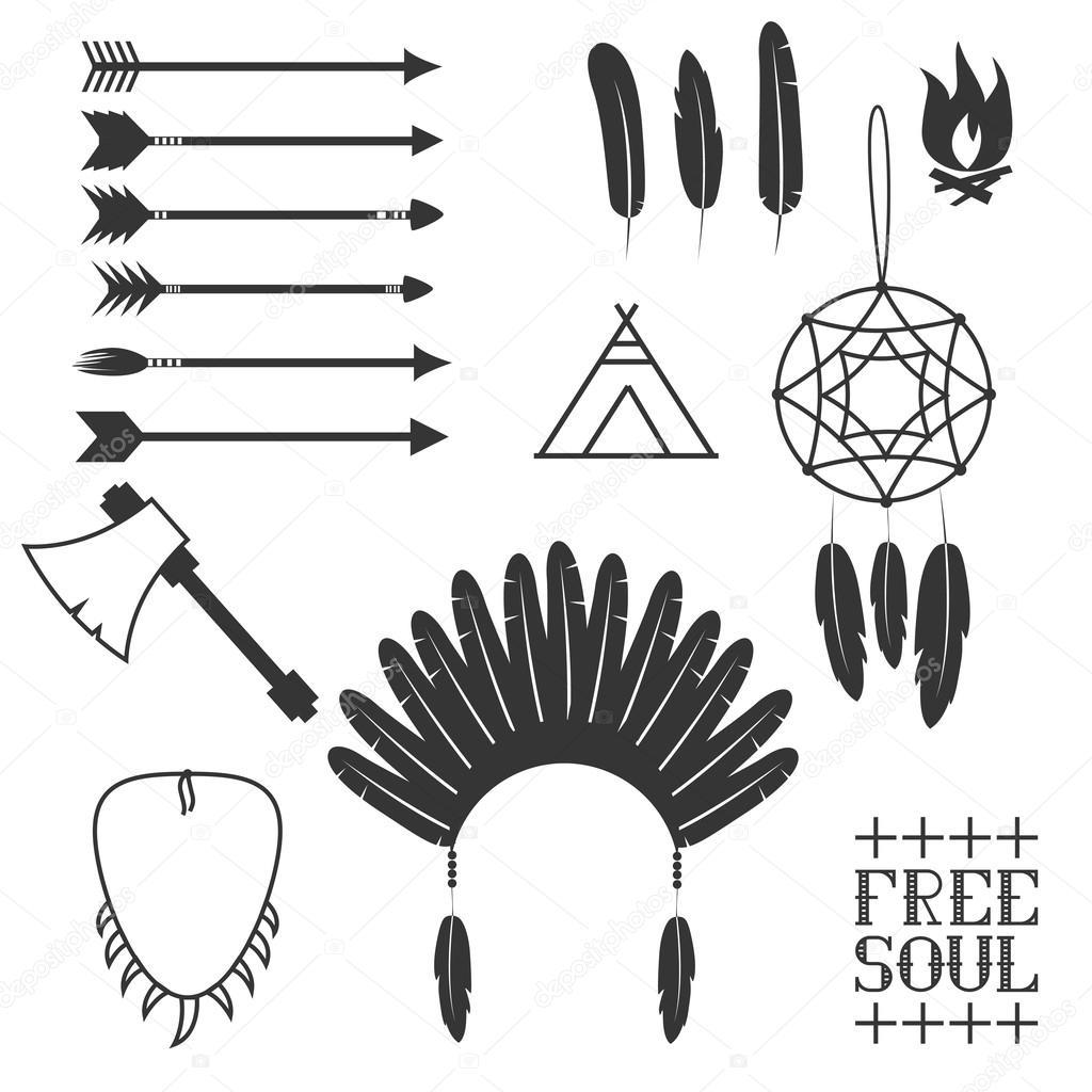 Arrows  Indian elements  Aztec Indian Arrow Vector