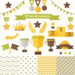 Trophy and winners icons set. — Stock Vector #47440527