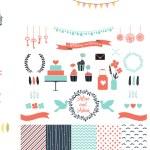 Set for wedding design — Stock Vector #47440565