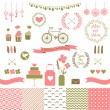 Set for wedding design. — Stock Vector