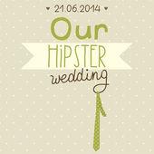 Приглашение на свадьбу. Наши хипстеры свадьба — Cтоковый вектор