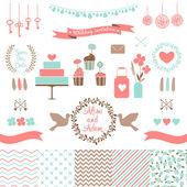 Set for wedding design — Stock Vector