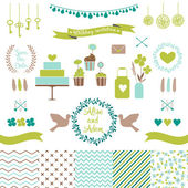 Set for wedding design. — Stock Vector