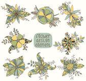 Elemento di design fiori — Vettoriale Stock